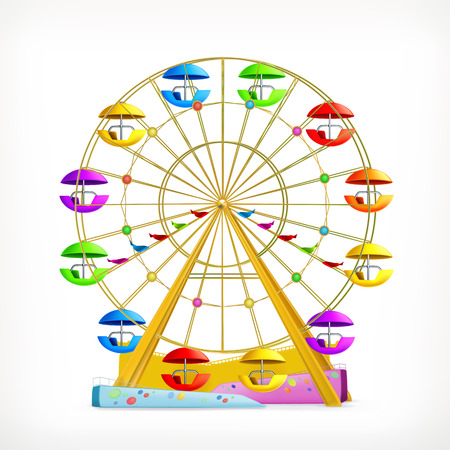 ferris: Ferris wheel, vector icon