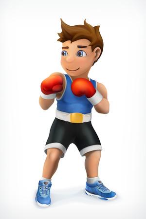 Pequeño boxeador, icono del vector Ilustración de vector