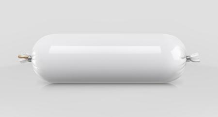 White polyethylene packaging for food, vector mockup