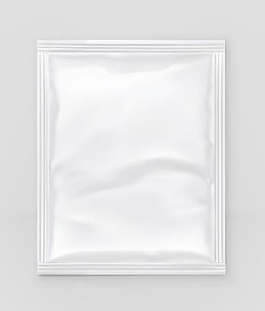 White polyethylene packaging, vector mockup