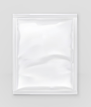 White polyethylene packaging, vector mockup