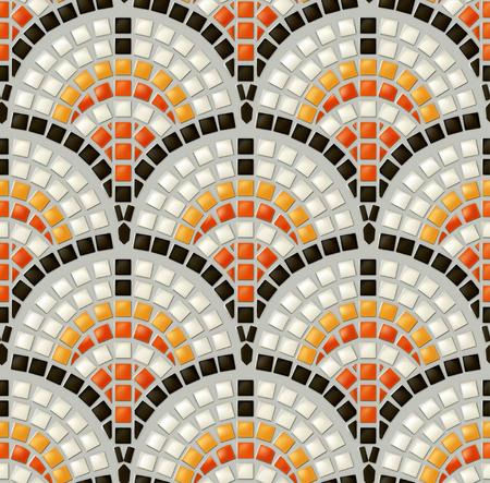 Antieke mozaïek, naadloze vector patroon Vector Illustratie