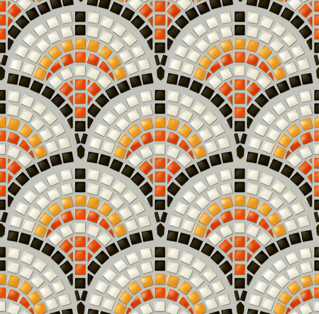 mosaic: Antique mosaic, seamless vector pattern