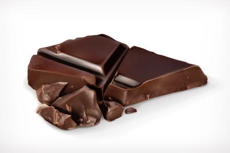 Dunkle Schokolade Stücke Vektor-Symbol