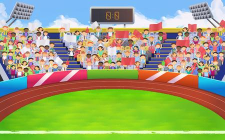 Stadion, sportarena vector achtergrond Stock Illustratie