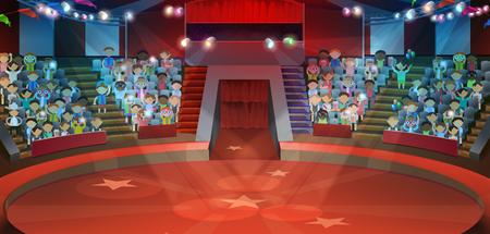 Circus arena, tło wektor Ilustracje wektorowe