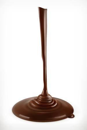 흐르는 초콜릿, 벡터 그래픽 요소, 메쉬
