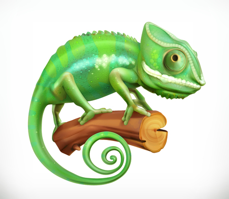 Chameleon. 3d vector icon