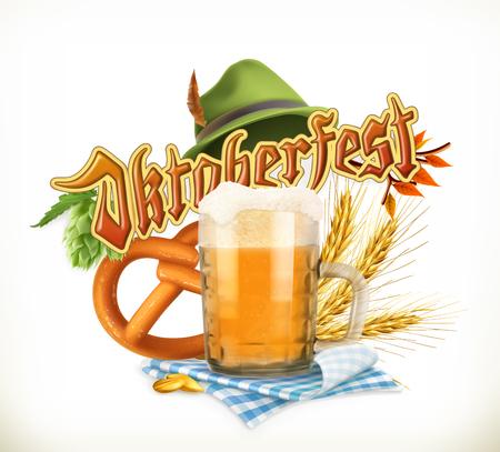 Fête de la Bière Oktoberfest de Munich, le vecteur peut également être utilisé par tous les fabricants de bière.