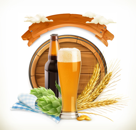 grain storage: Beer Festival, 3d vector logo