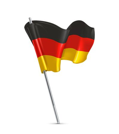 Flag of Germany 3d vector icon