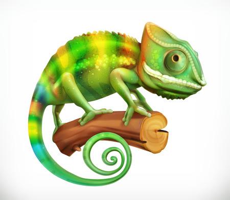 Chameleon. 3d vector icon