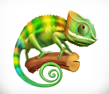 icon 3d: Chameleon. 3d vector icon
