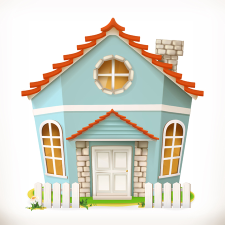 House, home. 3d vector icon Illustration