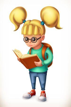 Little girl. Family. 3d vector icon Illustration