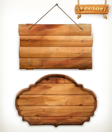 wood board: Wooden board, old wood vector