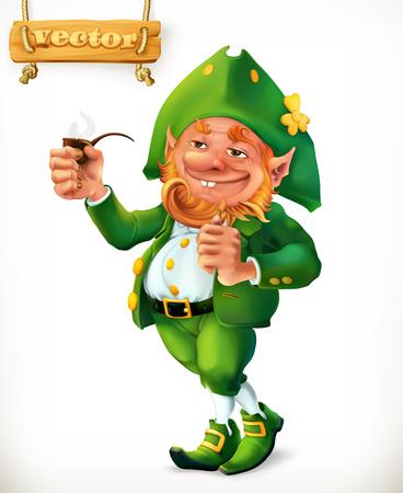 Leprechaun cartoon character. Feast of Saint Patrick.