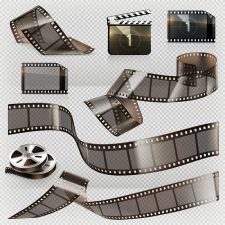 Old film strip with transparency.