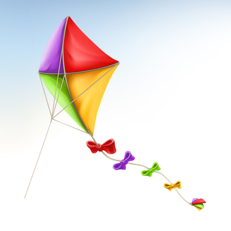 Kite 3d vector icon.