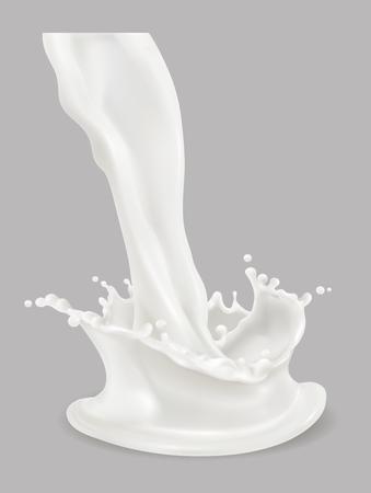 milk splash 3d vecteur icône Vecteurs