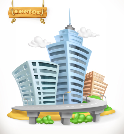 City. 3d vector icon