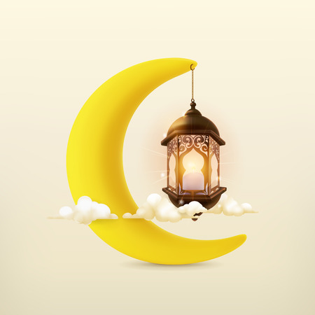 Ramadan kareem, 3d vector icon Illustration