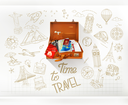 Time to Travel, infographics vector Illustration