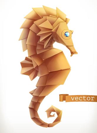 Sea horse. 3d vector icon