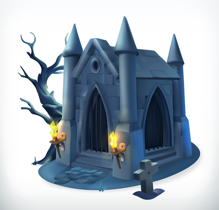 Crypt. Happy Halloween, 3d vector icon Banque d'images - 114774502
