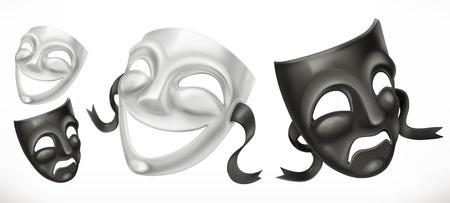 Theatrical masks. Illustration