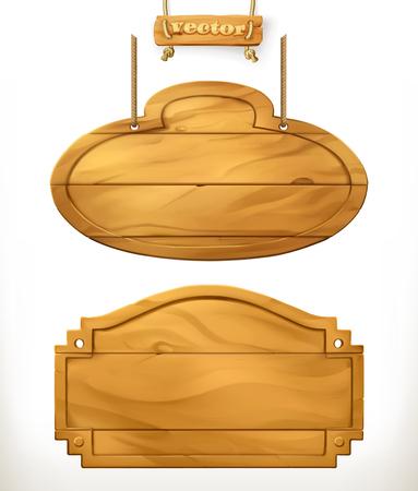 Wooden board, sign vector