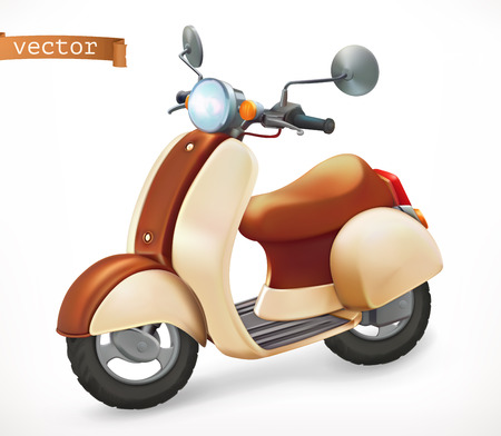 Scooter 3d realistic vector icon Vector Illustration