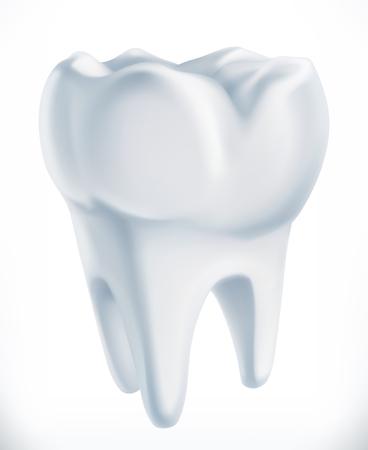 Tooth. Medicine 3d vector icon Çizim