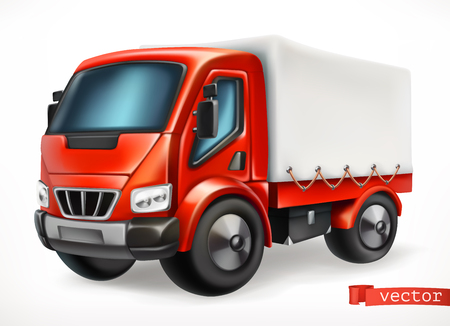 Truck 3d vector icon