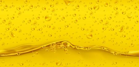 Drops. Golden seamless pattern. 3d realistic vector Illustration