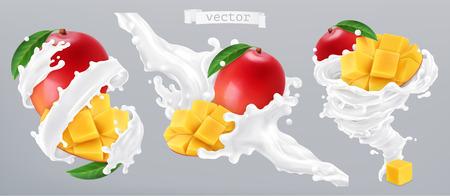 Mango and milk splash, yogurt.