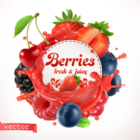 Berries, 3d  label