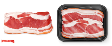 Mięso. Świeży stek w opakowaniu.