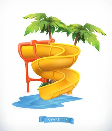 Water slide 3d vector icon 일러스트
