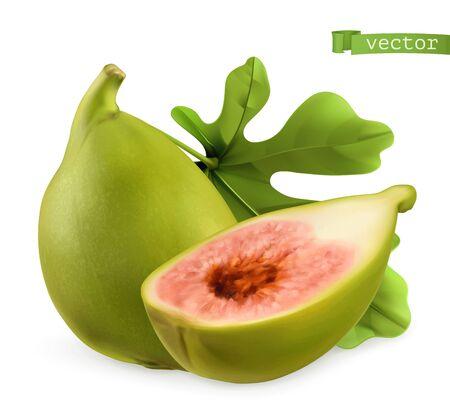 Figs, 3d realistic vector icon