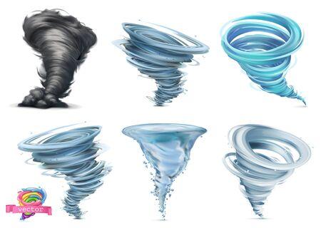 Tornado vector  set on white Ilustração