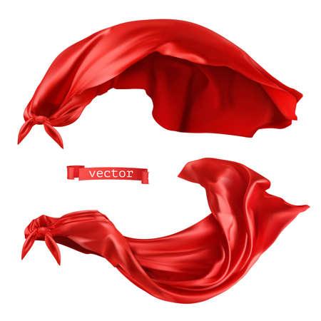 Superhero, red cape. 3d realistic vector Ilustração