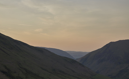 snowdonia: Sunrise over the mountains in the south of Snowdonia National Park, North Wales Stock Photo