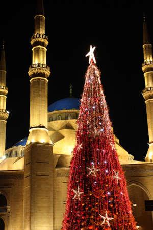 beirut: Khatem-Al-Anbiyaa-Moschee in Beirut Stock Photo