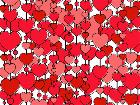 background made of pink hearts vector picture Vettoriali