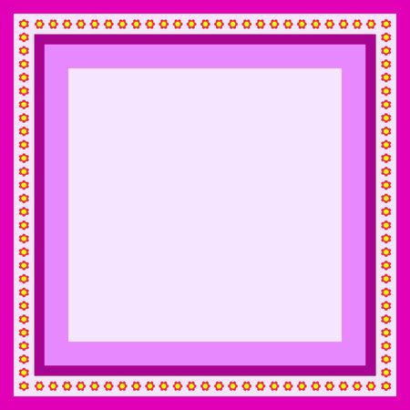인사말 카드 꽃 자주색 프레임