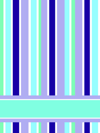 card made of blue and green stripes with place for the text Vector