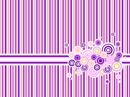spotted line: pink and purple backdrop with circle grunge ornament Illustration