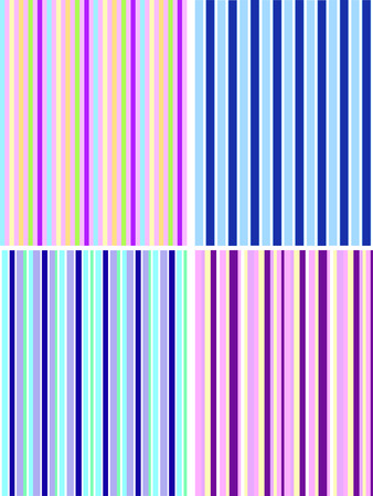 a set of four seamless striped colorful backgrounds