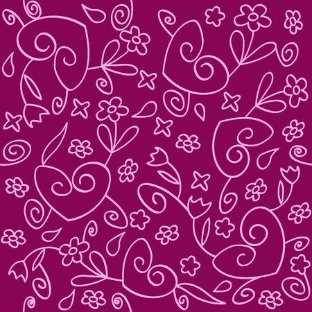 naadloze achtergrond van roze en paarse ornament